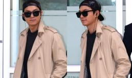 Lee Min Ho 'ngầu' với mũ đội ngược tại sân bay