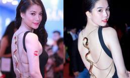 Trương Ngọc Ánh gợi cảm với váy rắn vàng 120 triệu giống Ngọc Trinh