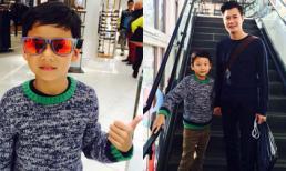 Con trai Quang Dũng chững chạc đi mua sắm cùng bố