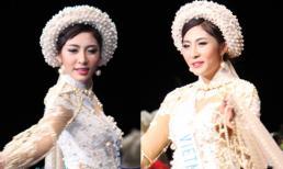 HHQT 2014: Đặng Thu Thảo tự tin trình diễn áo dài 5 tỷ