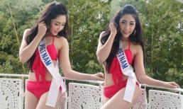HHQT 2014: Thu Thảo khoe dáng đẹp mướt mắt với trang phục áo tắm