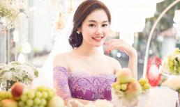 Linh Chi khoe vẻ đẹp hút hồn khi làm cô dâu