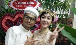 Diễn viên Huỳnh Đông đính hôn cùng bạn gái Á hậu