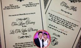 Lộ diện thiệp cưới của Lam Trường - Yến Phương