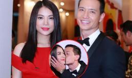 Kim Lý hôn Trương Ngọc Ánh trên thảm đỏ LHP Quốc tế Hà Nội
