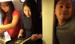 Hương Tràm đảm đang vào bếp nấu ăn cho Cao Thái Sơn
