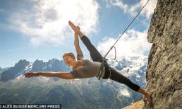 Vũ công Pháp mạo hiểm nhảy múa trên vách đá