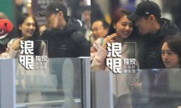 Vợ chồng Cao Viên Viên tình tứ tại sân bay sau đám cưới