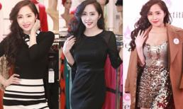 'Cá sấu chúa' Quỳnh Nga thay 3 bộ trang phục trong một sự kiện