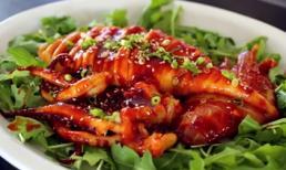 Mực nướng kiểu Hàn, không ăn thật tiếc