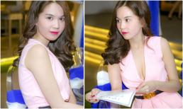 Ngọc Trinh diện gam hồng gợi cảm dự sinh nhật đàn em