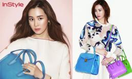 Lee Da Hee cá tính cùng túi xách trên bìa tạp chí InStyle