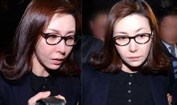 Á hậu Hàn bị tố bán dâm xuất hiện tiều tụy sau buổi hầu tòa
