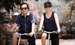 Dù U60, vợ chồng Elvis Phương vẫn trẻ trung đi xe đạp