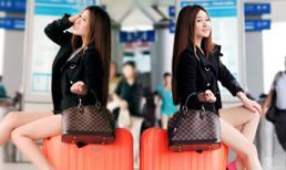 Hotgirl Ivy diện quần ngắn khoe chân dài ở sân bay
