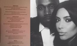 Lộ thực đơn cực xa hoa trong đám cưới trăm tỷ của Kim Kardashian