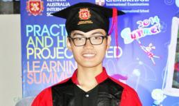 Em trai Trương Thị May rạng rỡ dự lễ bế giảng lớp 12