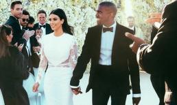 Hình ảnh cưới rõ nét đầu tiên được Kim