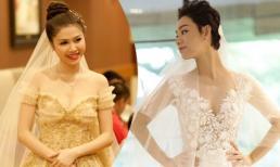 Nghía bộ váy cưới xa xỉ của cô dâu V-biz