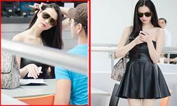 Bắt gặp Khánh My khoe da trắng nõn với váy đen nổi bật tại sân bay