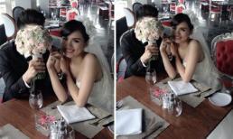Sau scandal ly hôn, Diễm Hương gây 'tò mò' với loạt ảnh cưới đẹp như mơ
