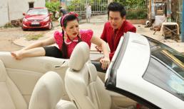 Vợ chồng danh hài Kiều Linh gây chú ý trên phố với siêu xe 2 cửa
