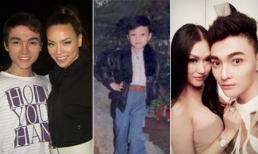 Hot boy của Phi Thanh Vân khoe ảnh thơ ấu sành điệu và thời ốm nhom bên Hà Hồ
