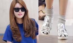Soo Young (SNSD) gây chú ý với thời trang đi sandals xỏ tất