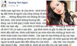 """Dương Yến Ngọc lên tiếng vụ """"biết trước MH17 gặp nạn"""""""