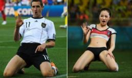 Khi người đẹp tạo dáng giống cầu thủ World Cup