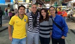 Hà Tăng rạng rỡ bên chồng Louis Nguyễn ở Brazil