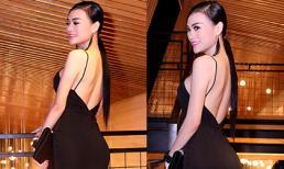 Cao Thùy Linh khoe lưng trần với váy dây gợi cảm