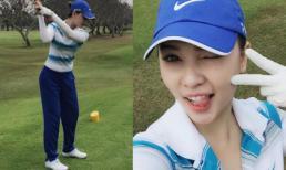 Quỳnh Thư xinh tươi đi đánh golf ở Vũng Tàu