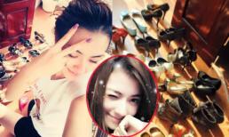 Hồng Quế cho bộ sưu tập giày 'khủng' đi tắm nắng
