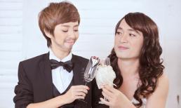 """Vợ chồng Thu Trang """"hoán đổi"""" giới tính kỷ niệm ngày cưới"""