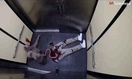 Hết hồn với trò dọa ma trong thang máy
