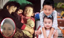 Hai con Jennifer Phạm ngủ say vẫn ôm chặt lấy nhau