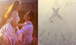 Bật mí hai mẫu váy cưới Trúc Diễm mặc trong ngày trọng đại