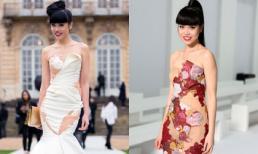 Jessica Minh Anh lộng lẫy trên ghế VIP tại 'Paris Fashion Week'