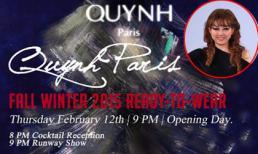Quỳnh Paris diễn ngày mở màn Tuần lễ thời trang New York