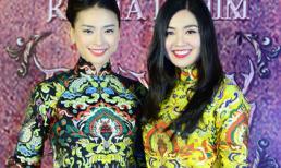 Ngô Thanh Vân - Lê Khánh nổi bật với áo dài cách tân