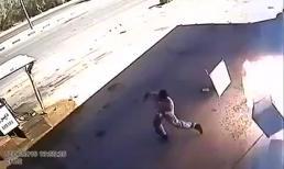 Tai nạn ở trạm xăng vì đãng trí