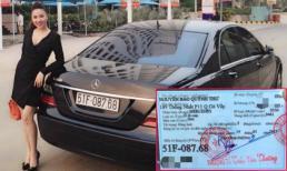 Quỳnh Thư khoe quà Valentine là xe Mercedes 'chính chủ'