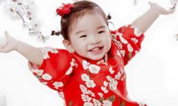 Con gái Xuân Lan diện áo dài xinh xắn đón Tết