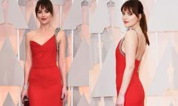 Sao phim '50 sắc thái' quyến rũ trên thảm đỏ Oscar 2015