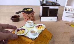 Thưởng thức bữa sáng được làm từ những món đồ tí hon