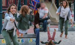Jessica Alba đẩy đu quá tay khiến con gái ngã lộn nhào