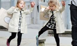 Harper mặc sành điệu, tung tăng đi mua sắm với bố Becks