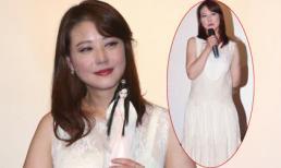 Châu Hải My lộ thân hình béo tròn với váy ren diêm dúa
