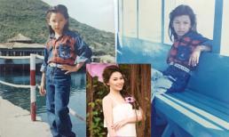 Lộ một loạt ảnh thời bé 'chuẩn men' của Quỳnh Thư
